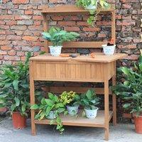 Charles Bentley Garden Wooden Work Potting Bench