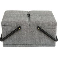 Korbond Hamilton Herringbone Twin Lid Sewing Basket