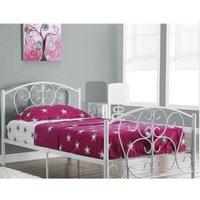 Hallie Single Bed Frame - White