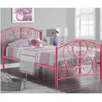 Hallie Single Bed Frame - Pink