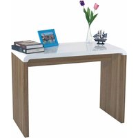 Charles Bentley Walnut Gloss Console Table - White HM/BRIGHT.01/CN