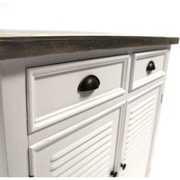Charles Bentley Hampton Small Sideboard with Drawers - White