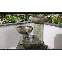 Kelkay Patina Bowls Water Feature - Stone Effect