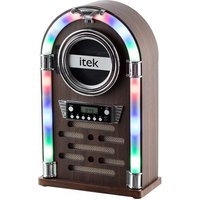 Itek Mini Bluetooth Jukebox with CD Player and Radio - Wood