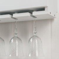 Lewiston Wooden Wine Rack for Bottles and Glasses - White