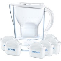 Brita Maxtra+ Marella Water Filter 2.4L Jug 6 Month Pack - White