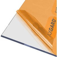 Axgard Clear 6mm UV Protected Polycarbonate Roofing Sheet - 1000 x 1000mm
