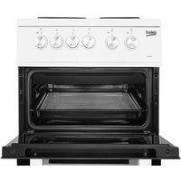 Beko KD531AW Double Oven 91L Electric Cooker - White