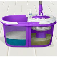 Dual Spin Mop with Bucket Set - Purple