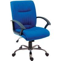 Teknik Milan Blue Fabric Executive Chair
