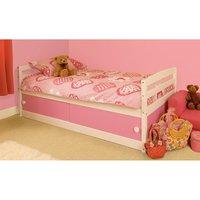 Olaine Single Storage Bed - Pink