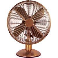 Status 12 Inch Oscillating Desk Fan - Copper