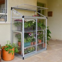 Palram Lean-To Grow House 4 x 2 - Silver/Clear