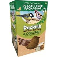 Peckish Natural Balance Coconut Bird Feeders - 4pk