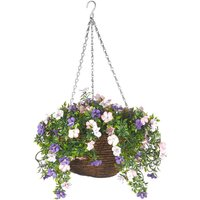 Smart Garden Artificial Petunia Hanging Basket - 30cm