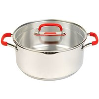 Pyrex Passion Stainless Steel Casserole Dish with Lid 24 cm - 4.7 L