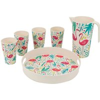 Cambridge Flamingo Bamboo Eco-Friendly Tableware Set - 6 Piece