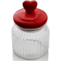 Sabichi Heart Topped Glass Jar - 900ml