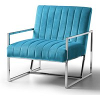 Rina Chair Velvet Lagoon Stainless Steel Legs
