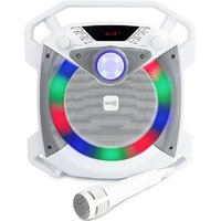 Rockjam Portable LED Bluetooth Party Karaoke Machine with Microphone