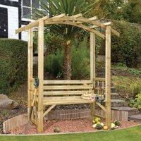 Grange Fencing Romana Arbour - Natural Wood