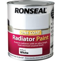 Ronseal 750ml One Coat Radiator Paint - Brilliant White