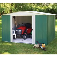 Rowlinson Greenvale 10ft x 8ft Metal Apex Garden Shed