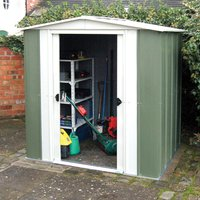 Rowlinson Greenvale 8ftx6ft Metal Apex Shed