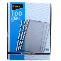 Ryman Clear A4 Pockets - 100 Pack