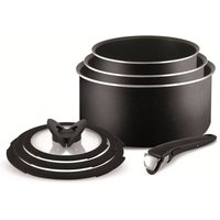 Tefal Ingenio Essential 7-Piece Non-Stick Saucepan Set with Lids and Bakelite Handle