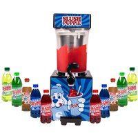 Slush Puppie with Ten Syrups - Blue Raspberry, Green Apple, Cola, Lime and Cherry