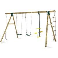 Plum Orangutan Wood Swing Set