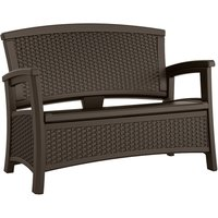 Suncast Wicker-Effect Love Seat with Storage - Java