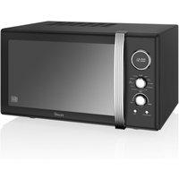 Swan Retro 900w Combi Microwave - Black