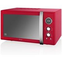 Swan Retro 900w Combi Microwave - Red