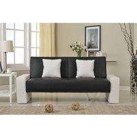 Sydney Sofa Bed - Black/White