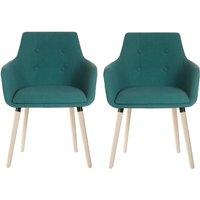 Teknik 4 Legged Soft Padded Office Chair 2 Pack - Jade