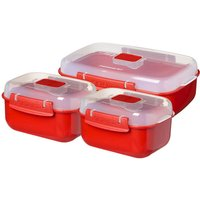 Sistema Microwave Heat & Eat Containers - 3 Pack
