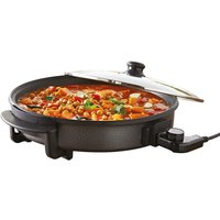 Quest 35410 30cm Multi-Function Electric Cooker Pan with Lid - Black