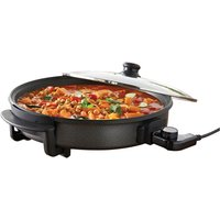 Quest 35500 40cm 1500W Multi-Function Electric Cooker Pan with Lid - Black