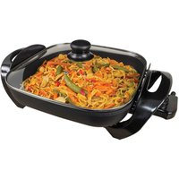 Quest 35800 1500W Square Multi-Function Electric Cooker with Glass Lid - Black