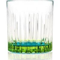 RCR 6-Piece Blue Gipsy Whiskey Glass Set