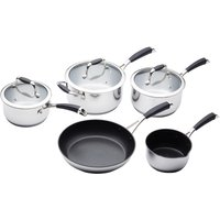 MasterClass Stainless Steel Cookware Pan Set - 5 Piece