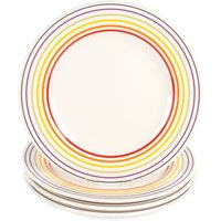 Bugatti Large Striped Dinner Plate Set - 4 Piece