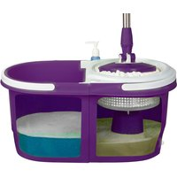 EasyClean Spin Mop Dual Bucket Set - Purple