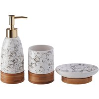 Maison by Premier Bubble Print Bathroom Set - White