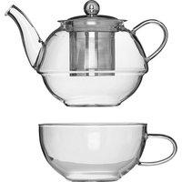 Secret du Gourmet Tea for One - Glass and Infuser Set