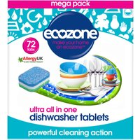 Ecozone Ultra All in One Dishwasher Tablets - Pack of 72