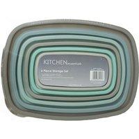 Robert Dyas Kitchen Essentials 6-Piece Storage Set - Grey