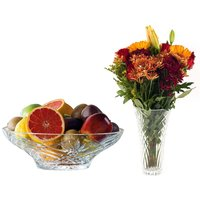 RCR Melodia Luxion Crystal Vase and Centrepiece Bowl